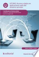 libro Acceso A Datos En Aplicaciones Web Del Entorno Servidor. Ifcd0210