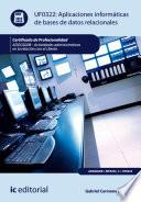 libro Aplicaciones Informáticas De Bases De Datos Relacionales. Adgg0208   Actividades Administrativas En La Relación Con El Cliente