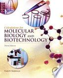 libro Calculations For Molecular Biology And Biotechnology