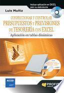 libro Confeccionar Y Controlar Presupuestos Y Previsiones De Tesorería Con Excel