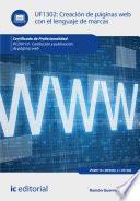 libro Creación De Páginas Web Con El Lenguaje De Marcas. Ifcd0110