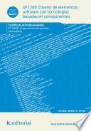 libro Diseño De Elementos Software Con Tecnologías Basadas En Componentes. Ifct0609