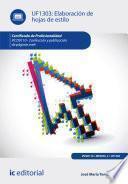 libro Elaboración De Hojas De Estilo. Ifcd0110