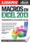 libro Macros En Excel 2013