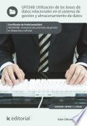 libro Utilización De Las Bases De Datos Relacionales En El Sistema De Gestión Y Almacenamiento De Datos. Adgg0308