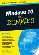 libro Windows 10 Para Dummies