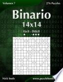 libro Binario 14x14   De Fácil A Difícil   Volumen 7   276 Puzzles