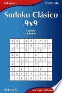 libro Sudoku Clásico 9x9   Experto   Volumen 5   276 Puzzles