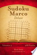 libro Sudoku Marco Deluxe   Volumen 3   468 Puzzles