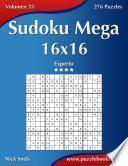 libro Sudoku Mega 16x16   Experto   Volumen 33   276 Puzzles