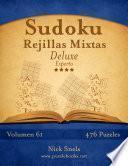 libro Sudoku Rejillas Mixtas Deluxe   Experto   Volumen 61   476 Puzzles