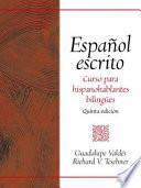 libro Español Escrito