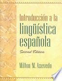 libro Introducción A La Lingüística Española