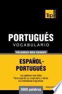 libro Vocabulario Español Portugués   5000 Palabras Más Usadas