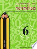 libro Cuaderno De Matemáticas No 6. Primaria