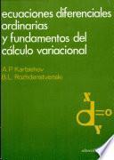 libro Ecuaciones Diferenciales Ordinarias Y Fundamentos Del Cálculo Variacional