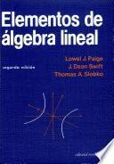 libro Elementos De álgebra Lineal