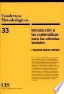 libro Introducción A Las Matemáticas Para Las Ciencias Sociales