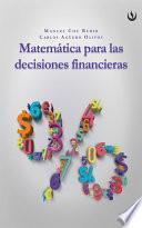 libro Matemática Para Las Decisiones Financieras