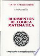 libro Rudimentos De Lógica Matemática