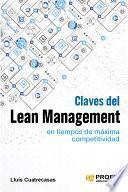 libro Claves Del Lean Management En Tiempos De Maxima Competitividad