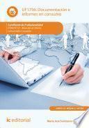 libro Documentación E Informes En Consumo. Comt0110