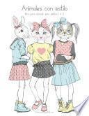 libro Animales Con Estilo Libro Para Colorear Para Adultos 1 & 2
