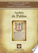 libro Apellido De Pablos