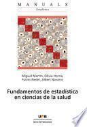libro Fundamentos De Estadística En Ciencias De La Salud
